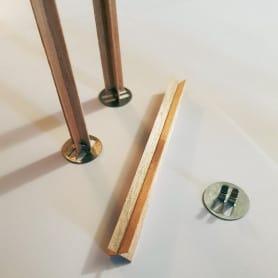 10 mèches croisées en bois avec socles