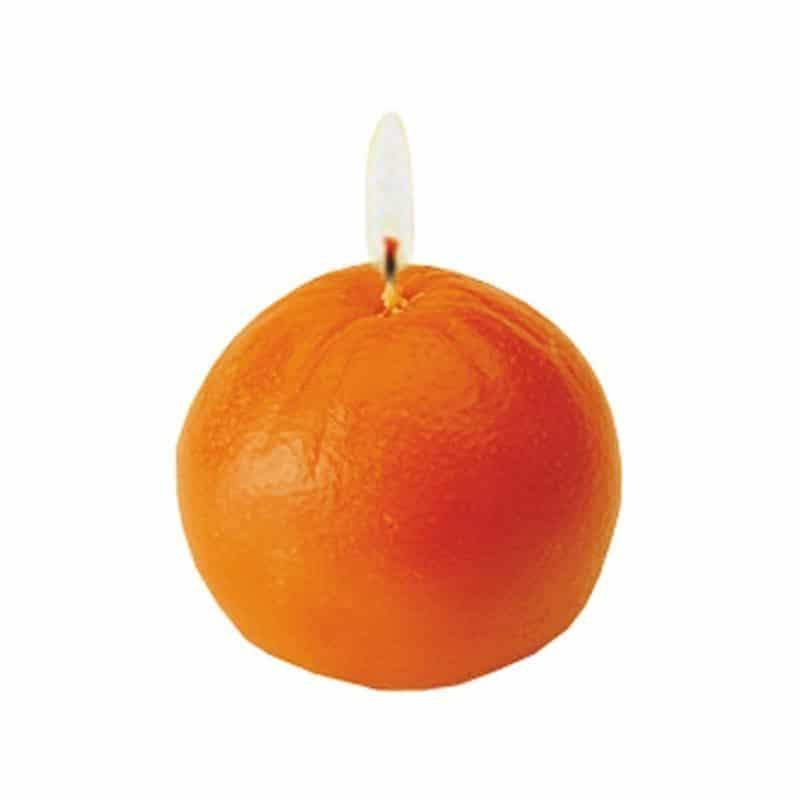 Orange - Moule en latex pour bougies