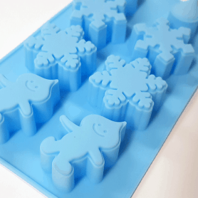 Moule silicone ambiance glacée