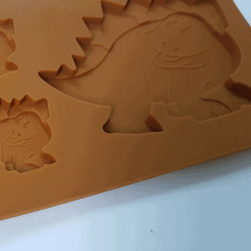 Moule silicone 5 dinosaures