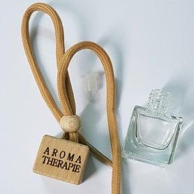 Flacon diffuseur aromathérapie carré transparent