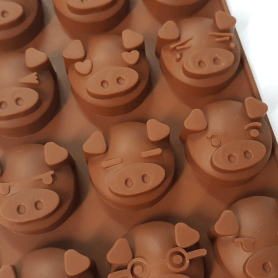Moule silicone 15 funny pigs
