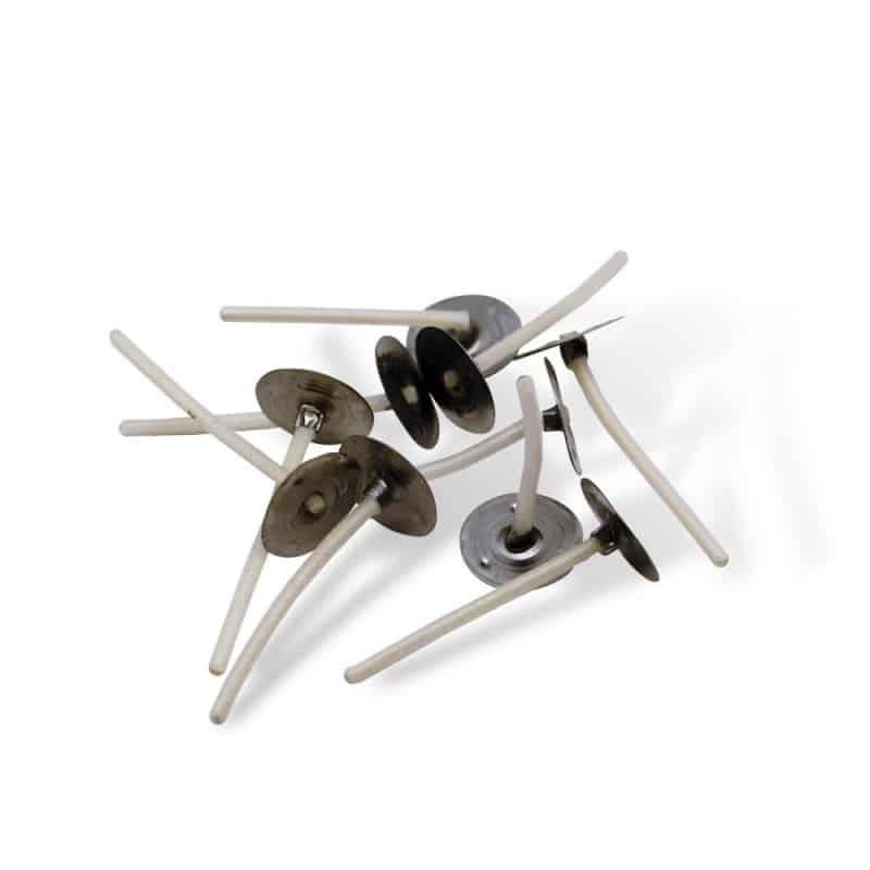 Mèches plates cirées sur socles - 3,5 cm