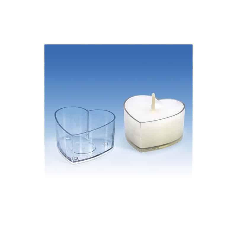 25 moules cœur pour bougies chauffe plats