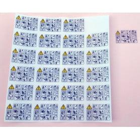 Etiquettes de sécurité transparentes