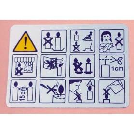 Etiquettes de sécurité argentées