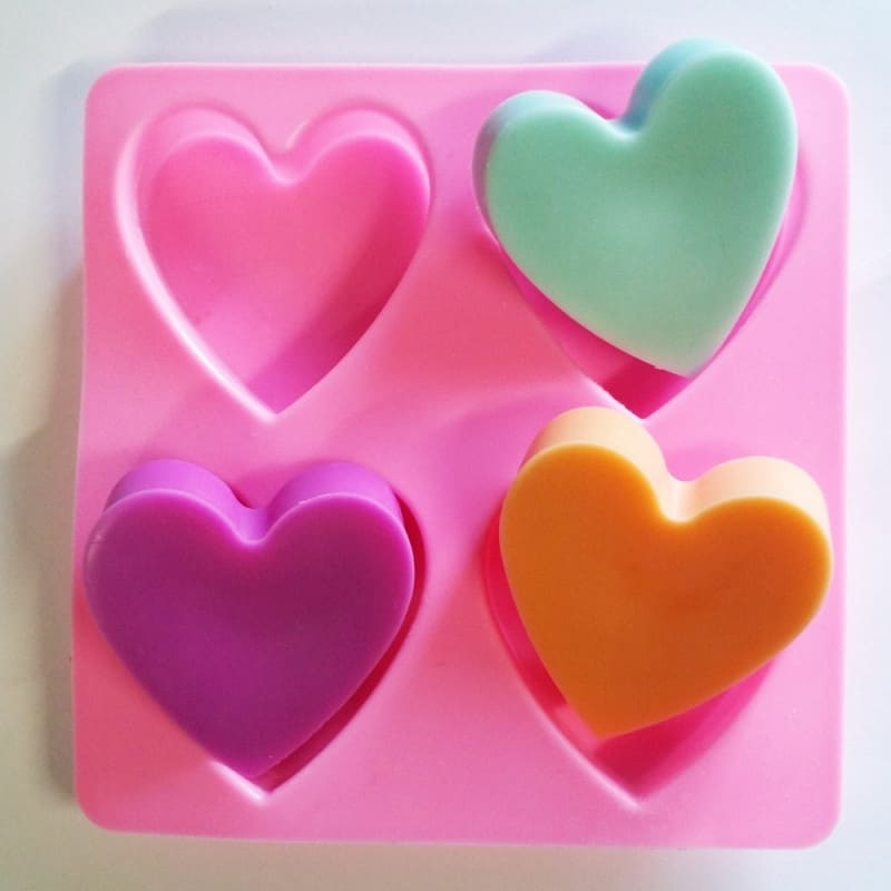 Moule silicone cœurs