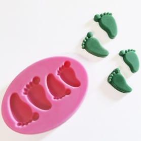 Moule silicone pieds de bébé
