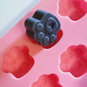 Moule silicone pattes de chat et cœurs